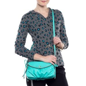 Juicy Couture Bags - Juicy Couture Black Faux Leather Mini Crossbody